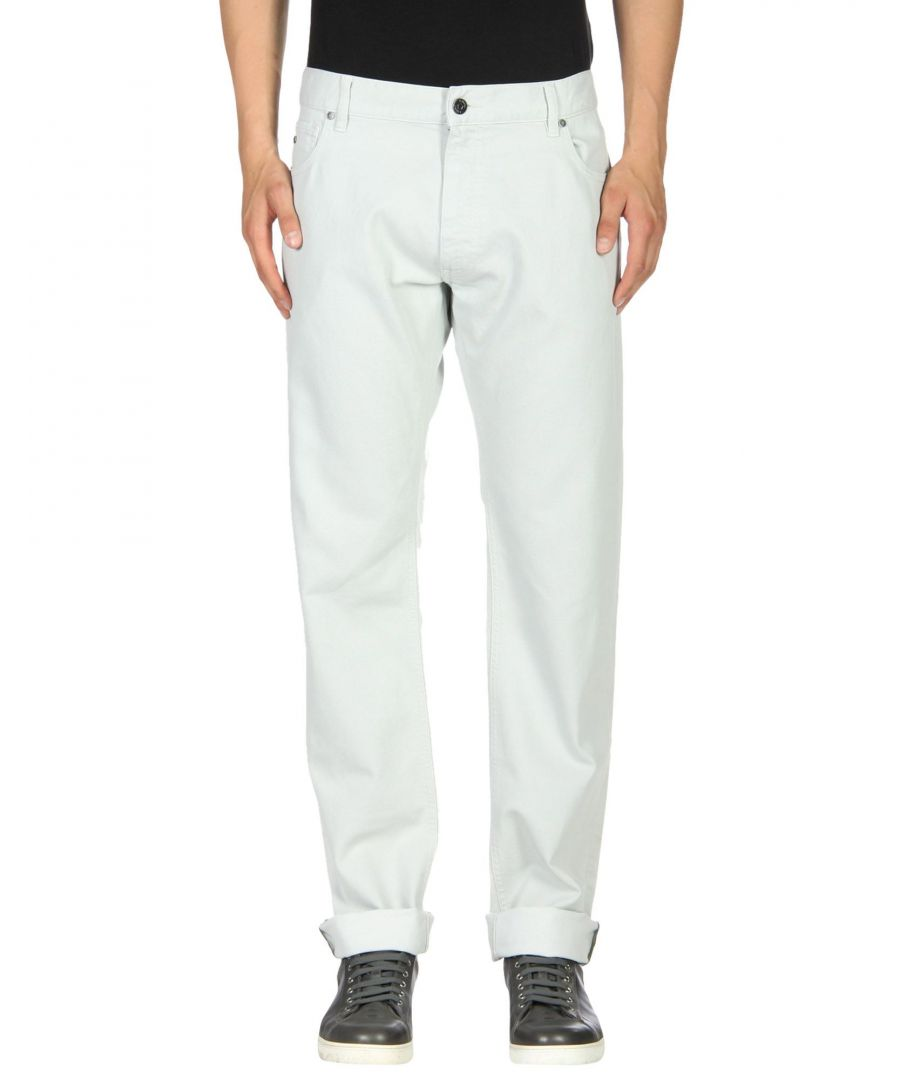Image for Zzegna Light Grey Cotton Straight Leg Jeans