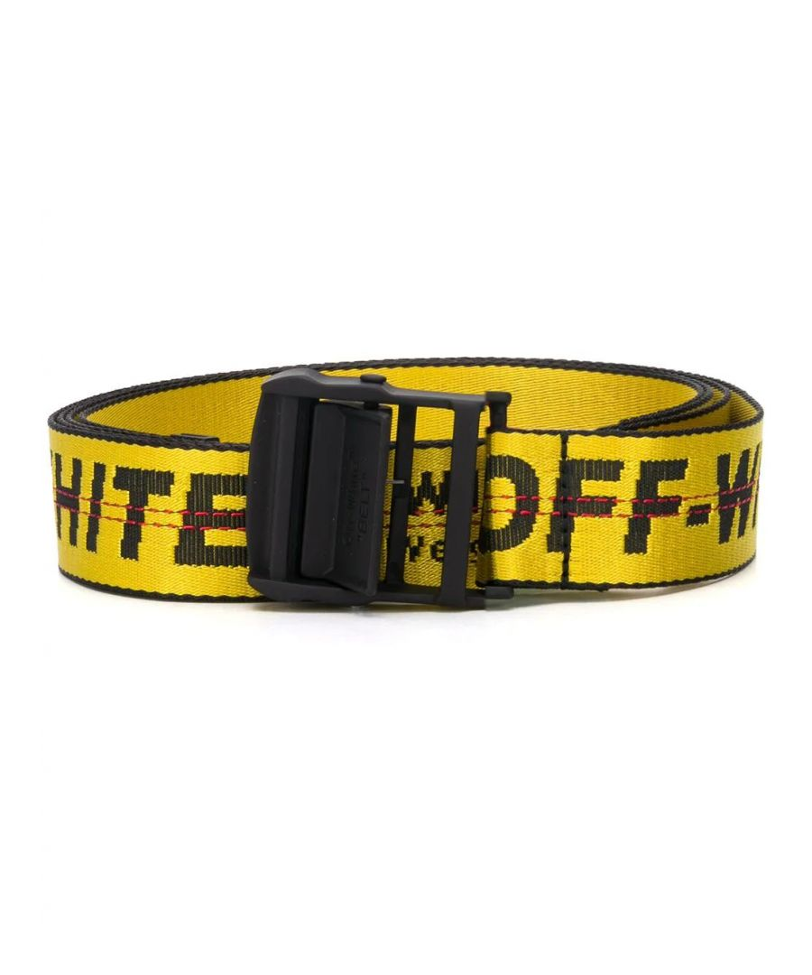 Image for OFF-WHITE WOMEN'S OWRB009S20FAB0011810 YELLOW LEATHER BELT