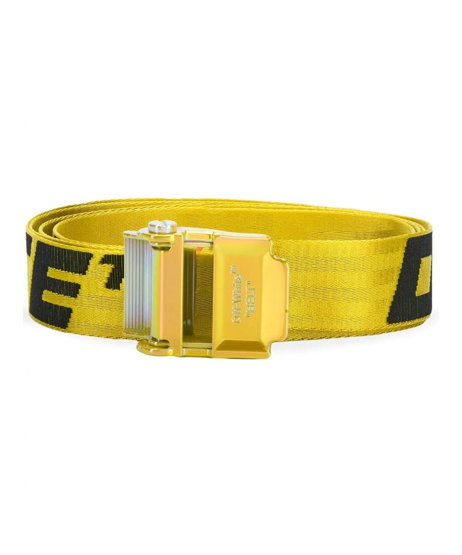 Image for OFF-WHITE MEN'S OMRB034S20F420416010 YELLOW POLYESTER BELT