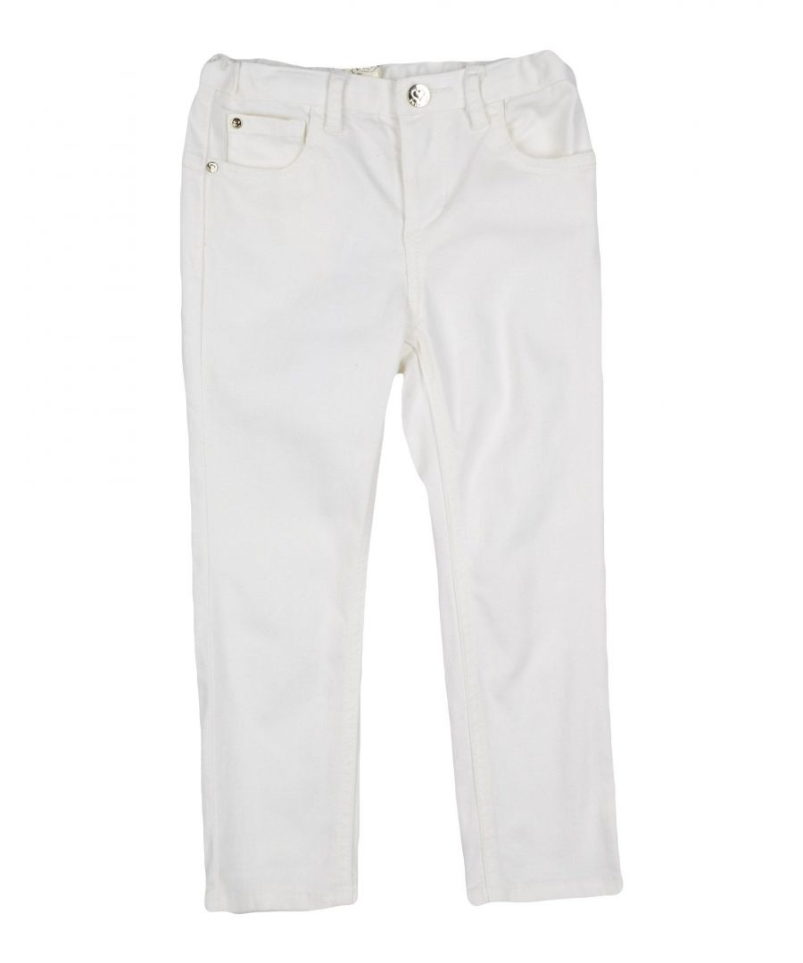 Image for DENIM Girl Twinset Ivory Cotton