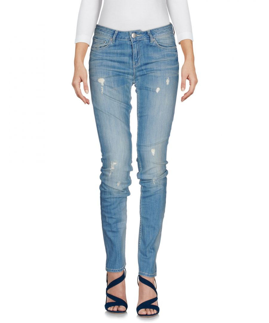 Image for Silvian Heach Blue Cotton Skinny Jeans