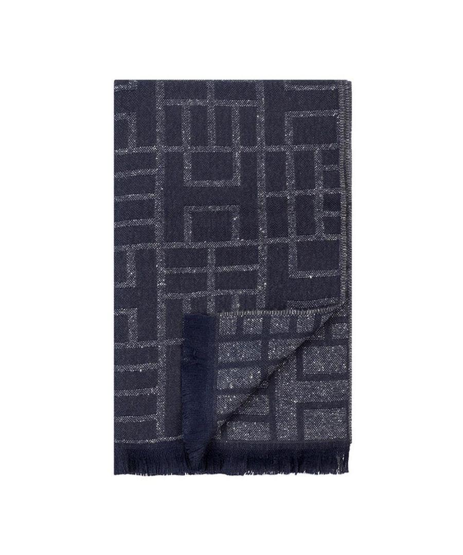 Image for Men's Hackett, Maya H Mosaic Scarf in Grey