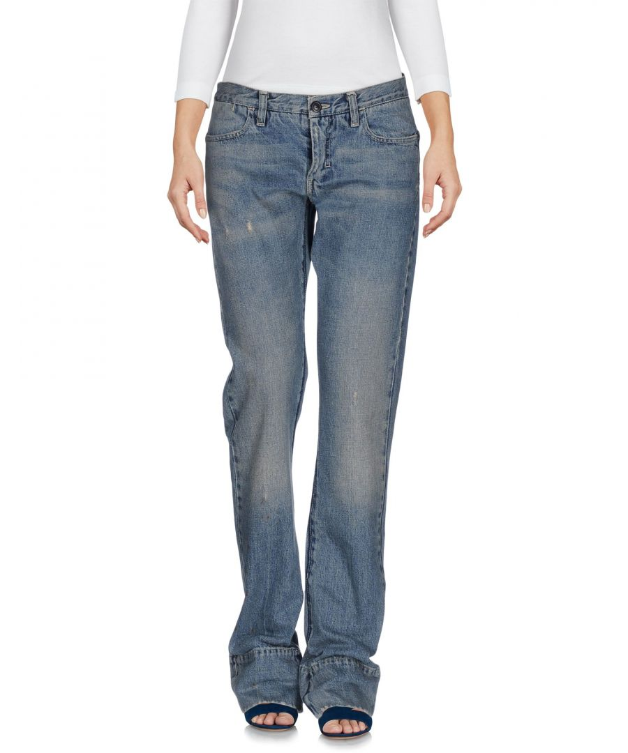 Image for Golden Goose Deluxe Brand Blue Cotton Flare Jeans