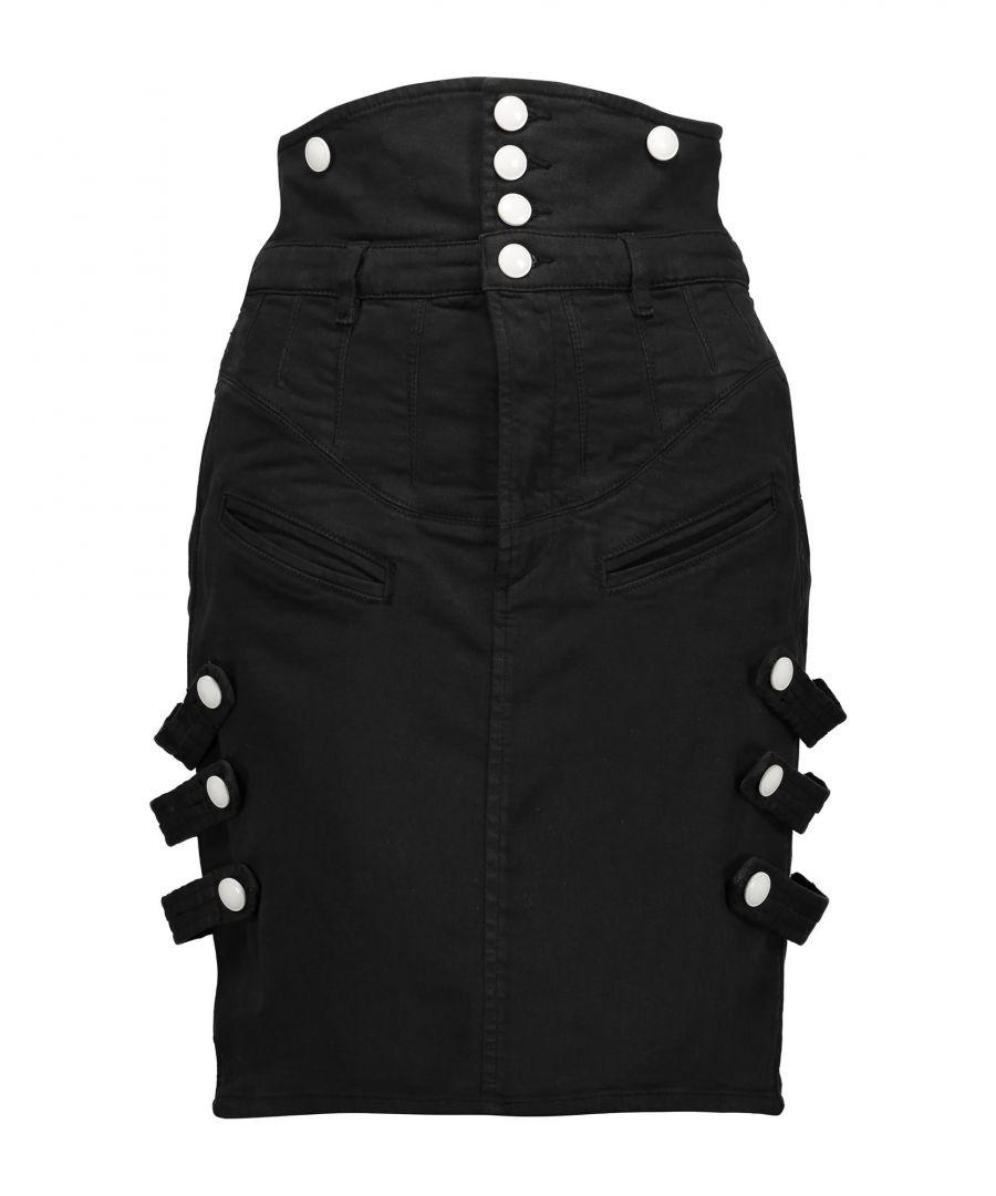 Image for Isabel Marant Black Denim Skirt With Strap Detailing