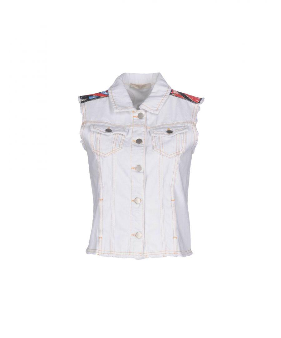 Image for .Amen. White Sleeveless Embellished Denim Jacket