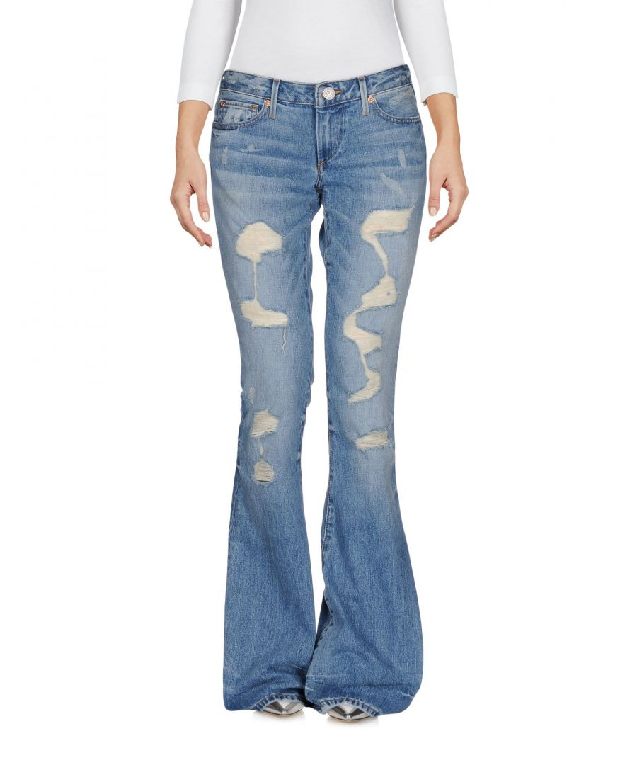 Image for True Religion Blue Cotton Flare Jeans