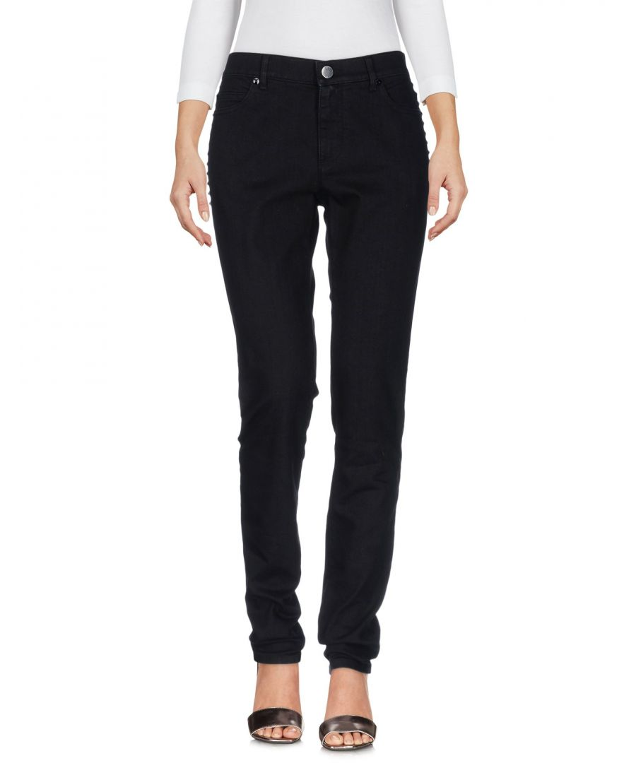 Image for Valentino Black Cotton Mid Rise Jeans