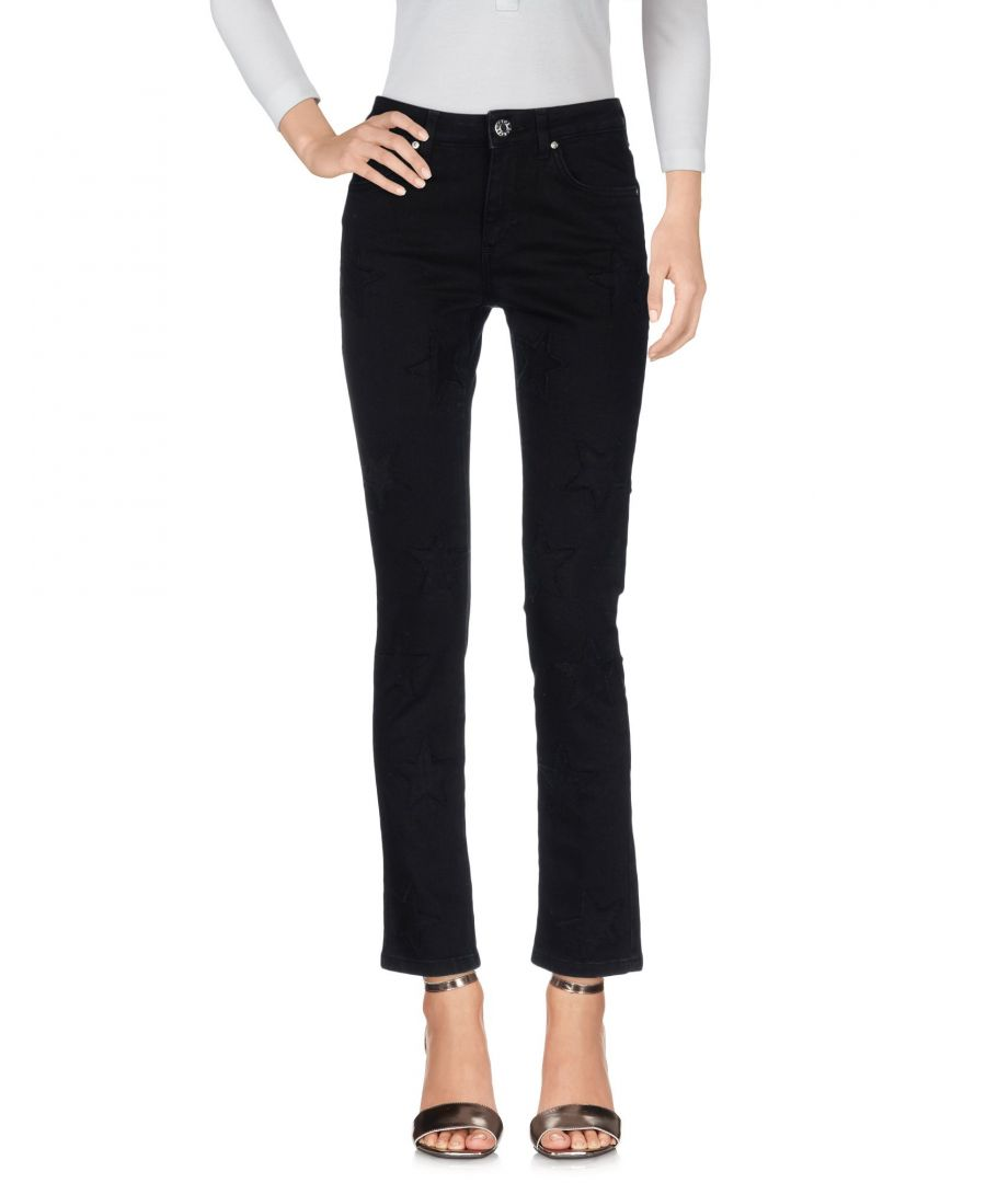 Image for Zoe Karssen Black Cotton Straight Leg Jeans
