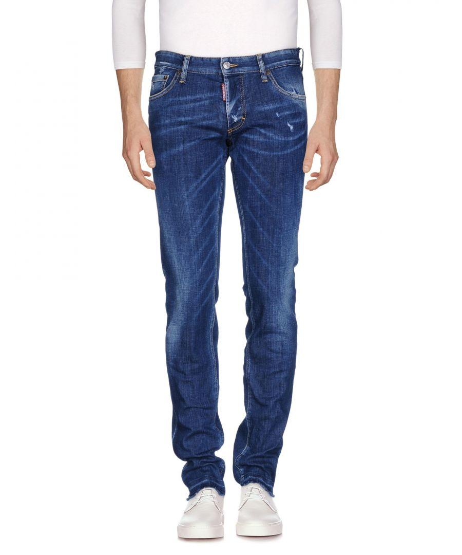 Image for Dsquared2 Blue Cotton Slim Fit Jeans