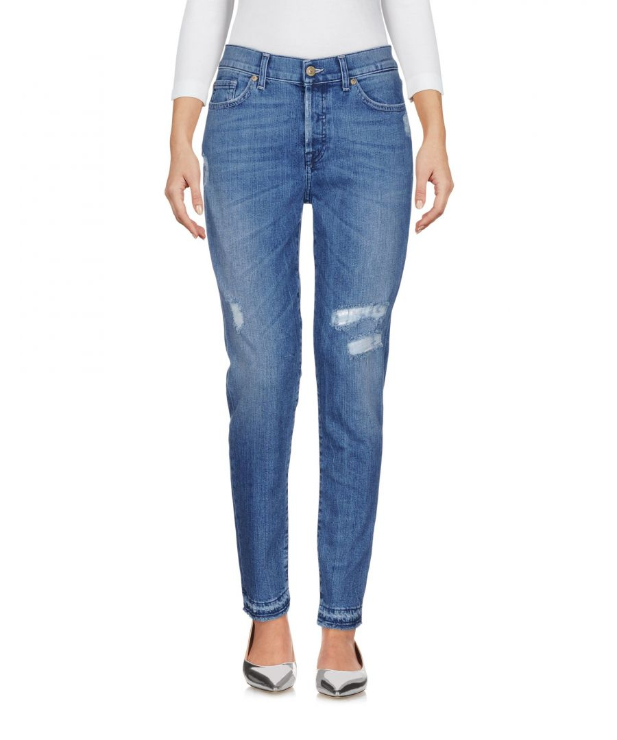 Image for 7 For All Mankind Blue Cotton Jeans