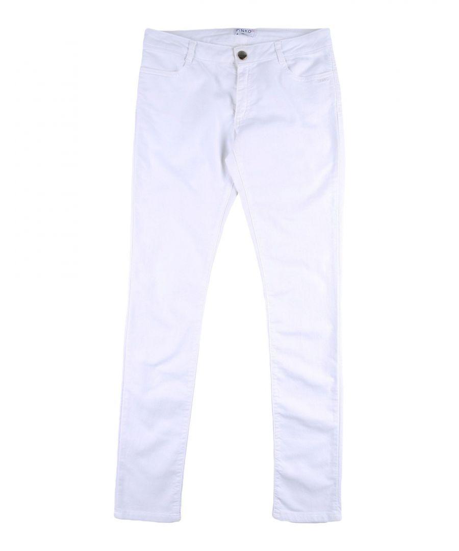 Image for DENIM Pinko Up White Girl Cotton