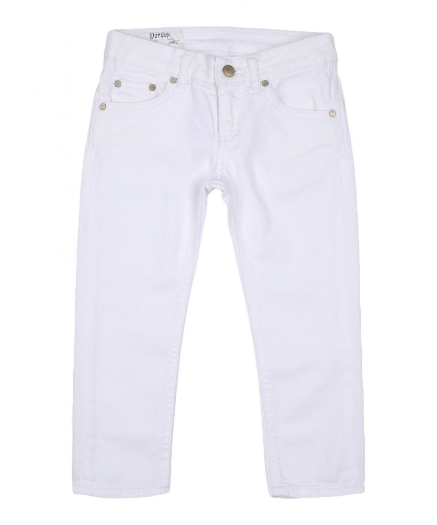 Image for DENIM Dondup White Girl Cotton