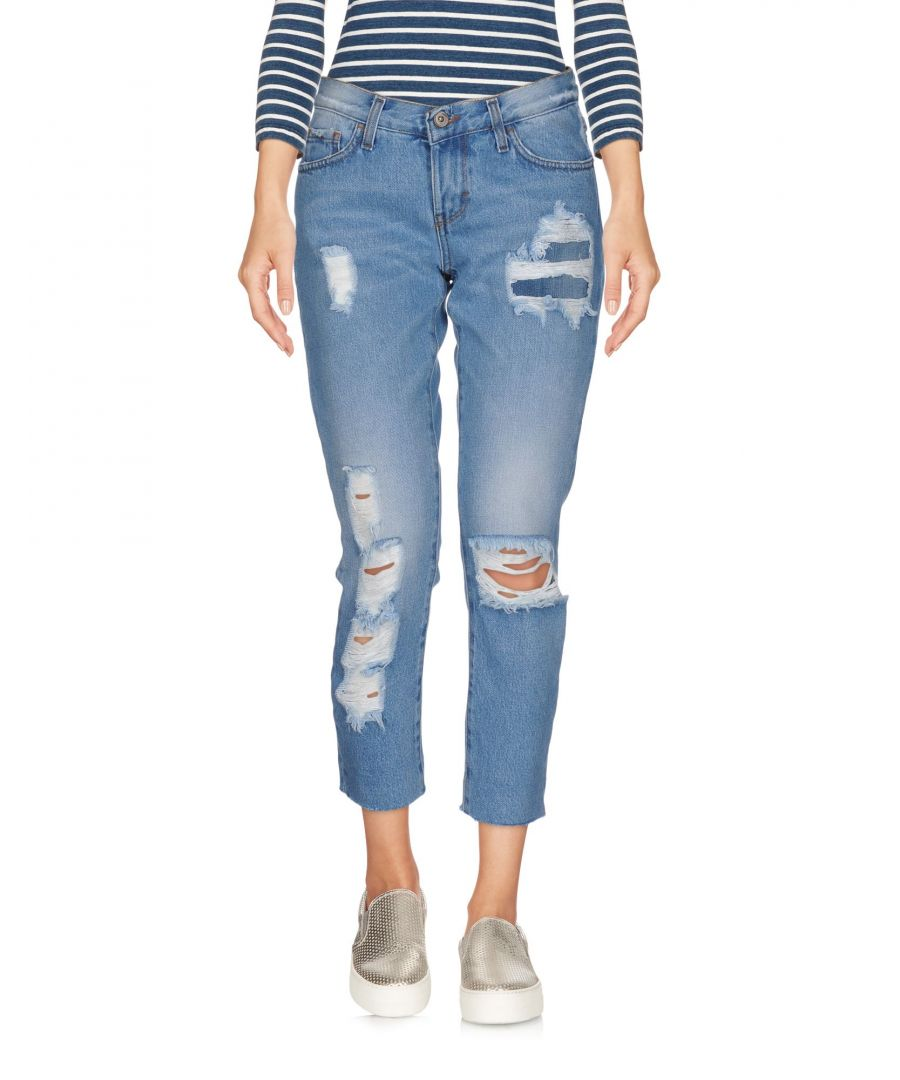 Image for Merci Blue Cotton Straight Leg Jeans