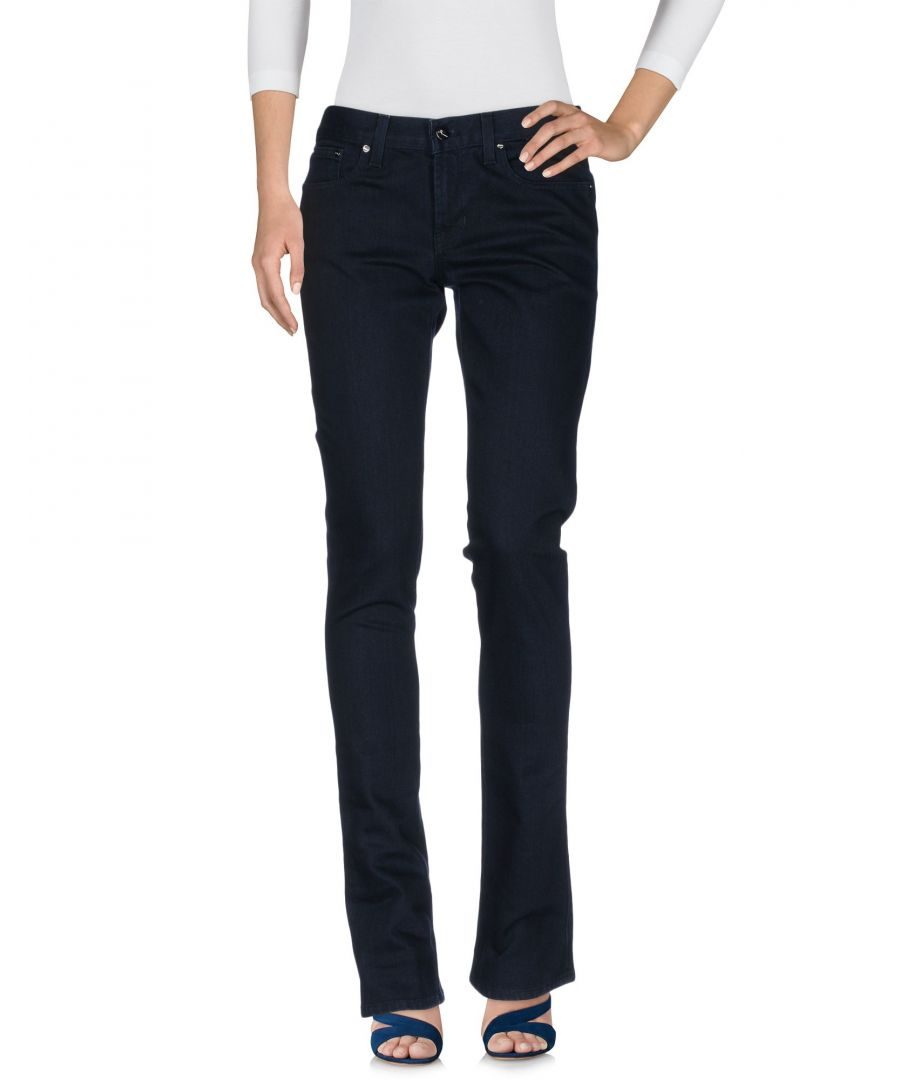 Image for Ralph Lauren Black Label Dark Blue Cotton Flare Jeans