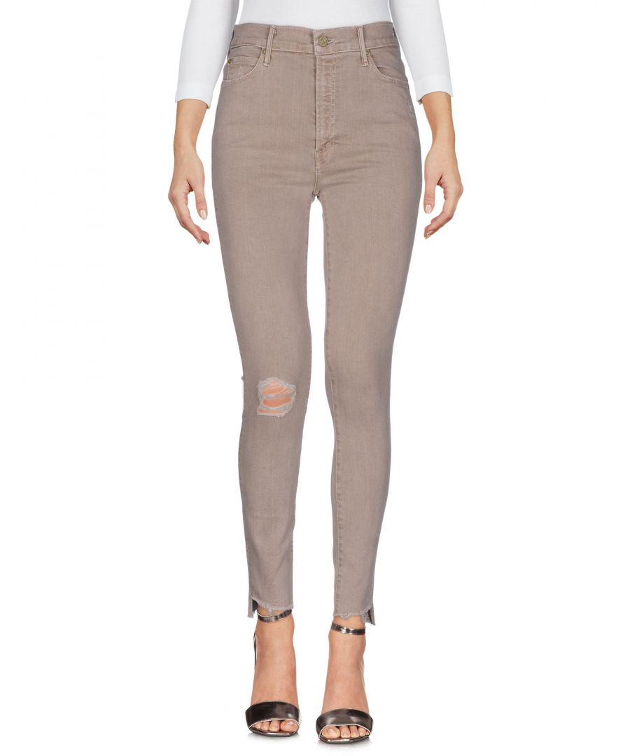 Image for Mother Beige Cotton Jeans