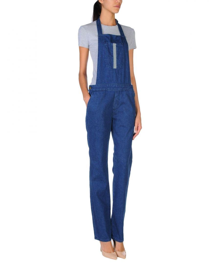 Image for DUNGAREES Current/Elliott + Charlotte Gainsbourg Blue Woman Cotton