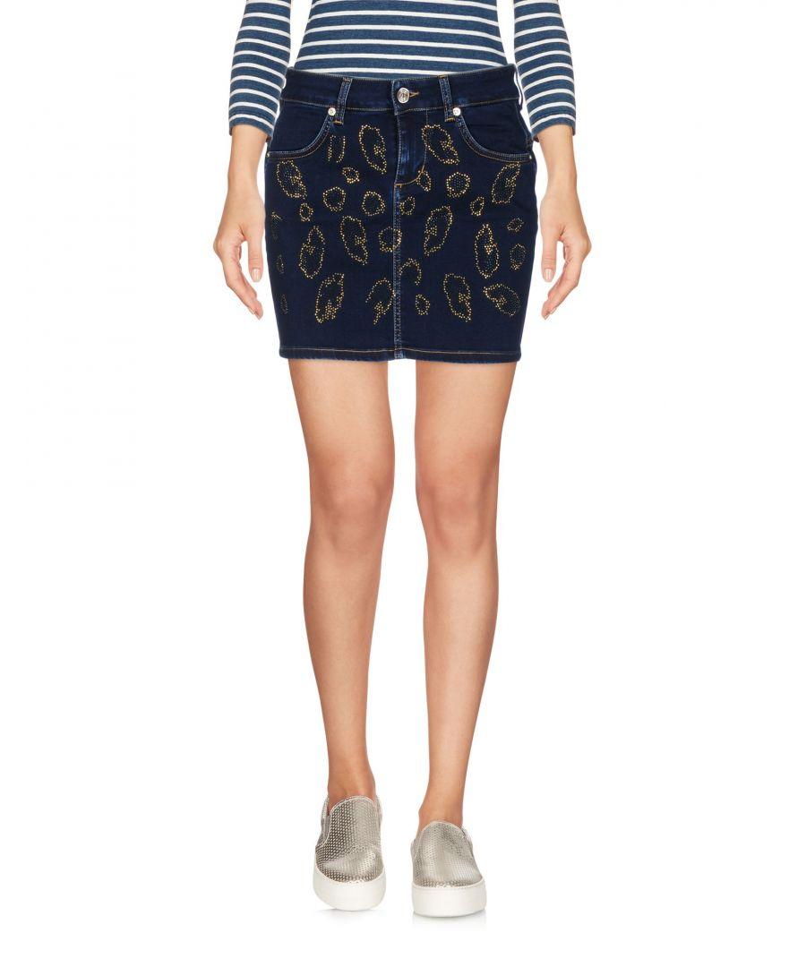 Image for Blugirl Blumarine Blue Embellished Denim Skirt