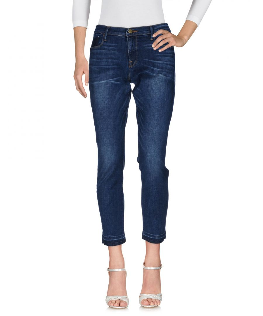 Image for Frame Blue Cotton Cropped Jeans