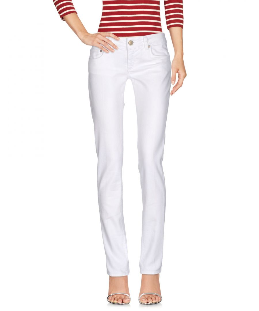 Image for Dondup White Cotton Jeans