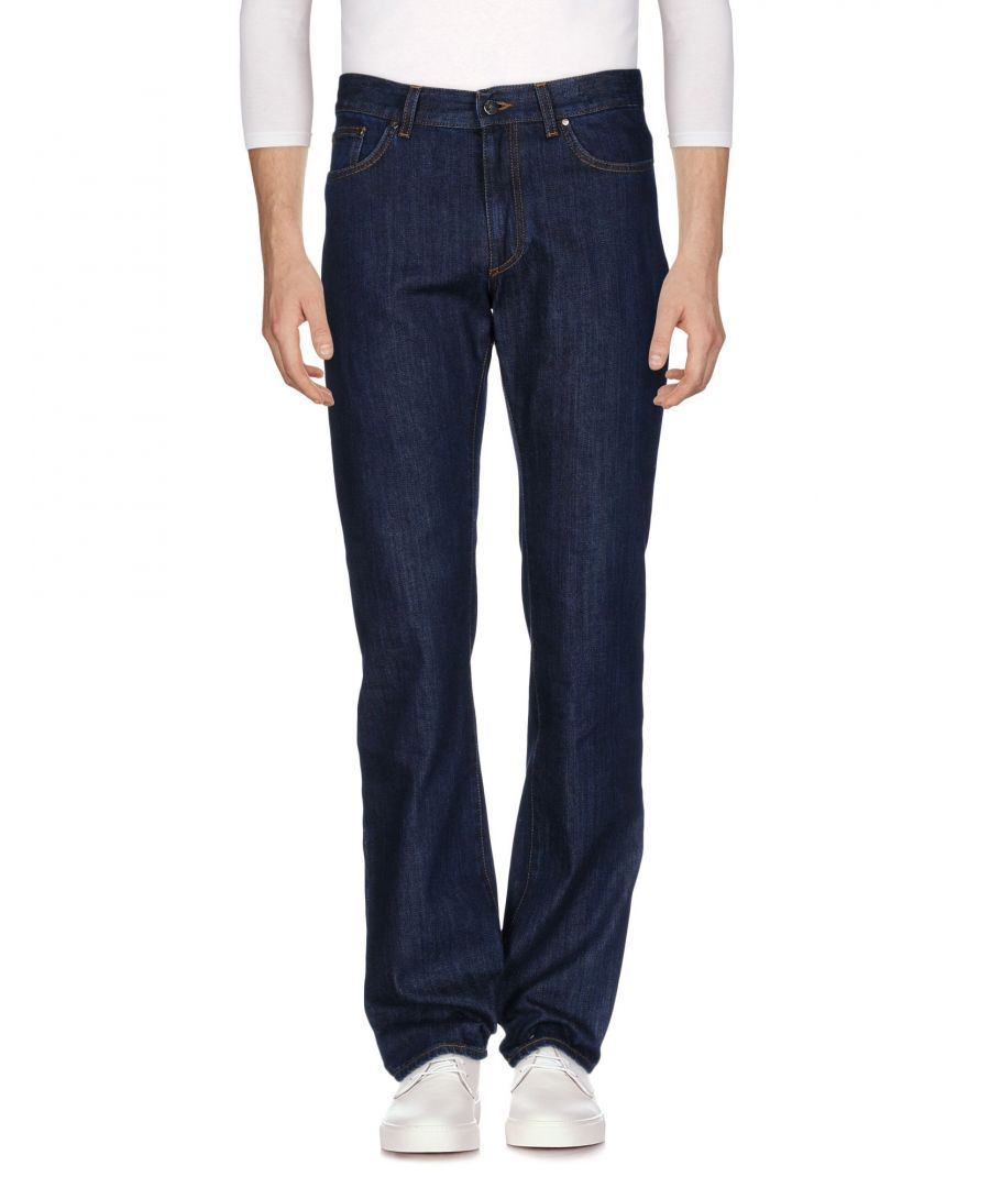 Image for Versace Collection Blue Cotton Dark Wash Jeans