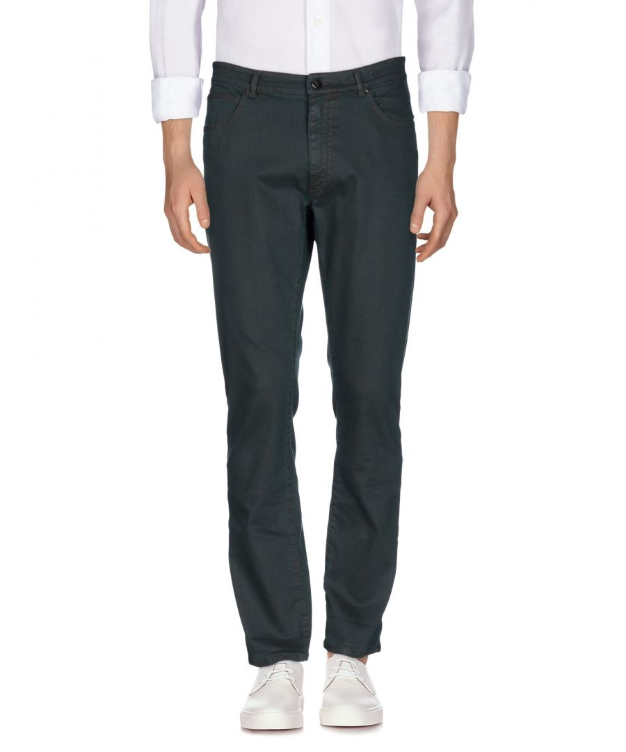 Image for Versace Collection Dark Green Cotton Jeans
