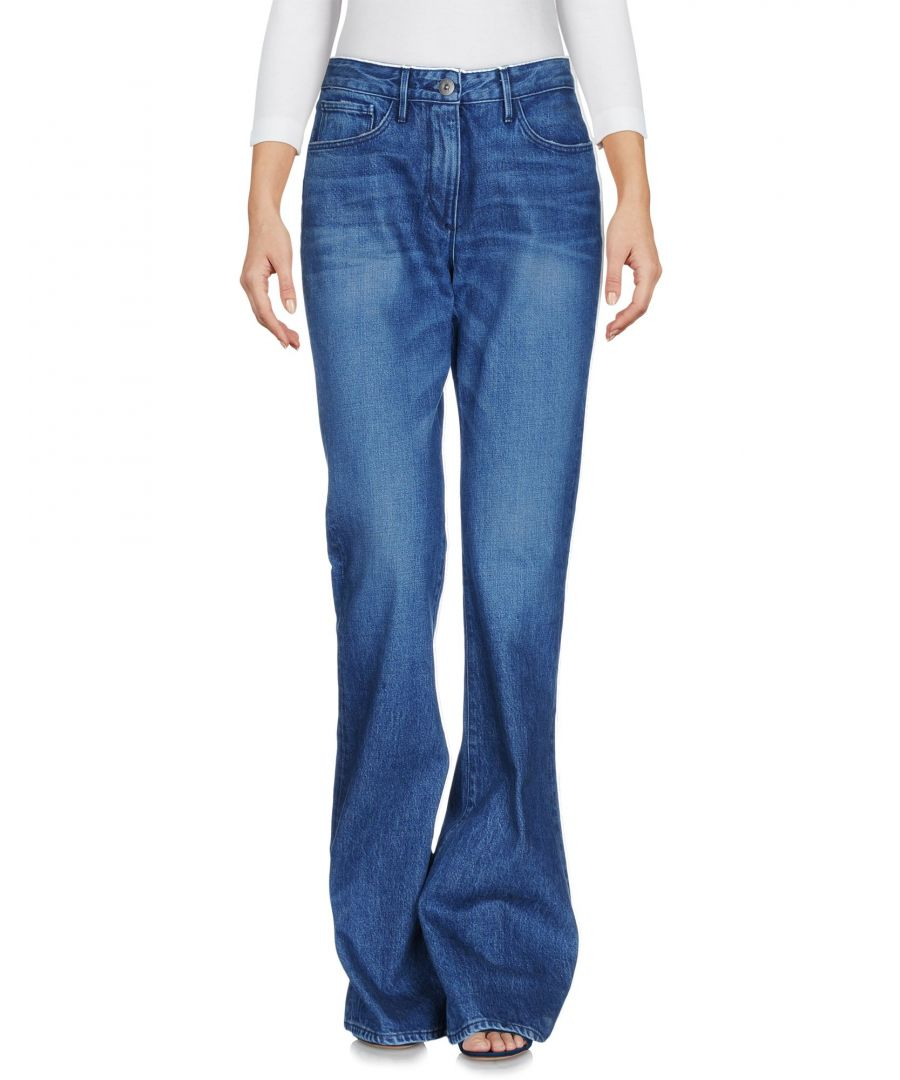 Image for 3X1 Blue Cotton Bootcut Jeans