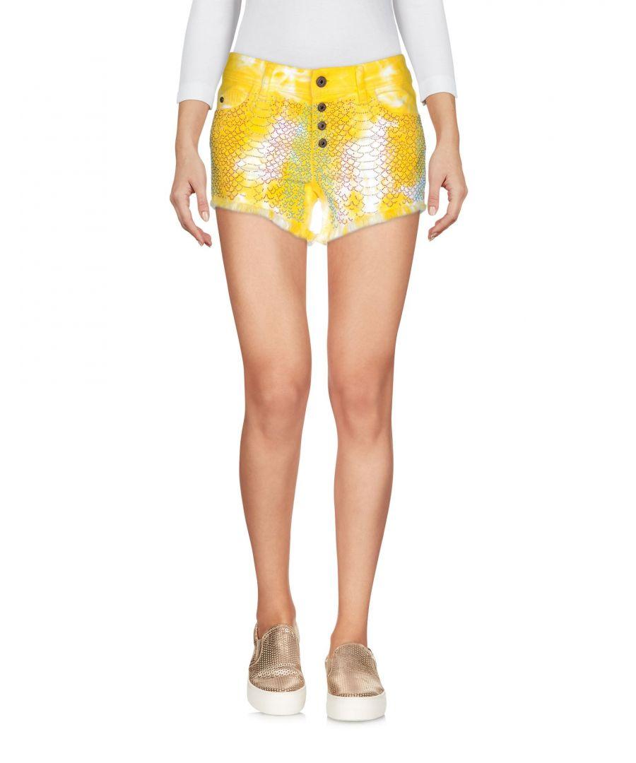 Image for Just Cavalli Yellow Denim Shorts