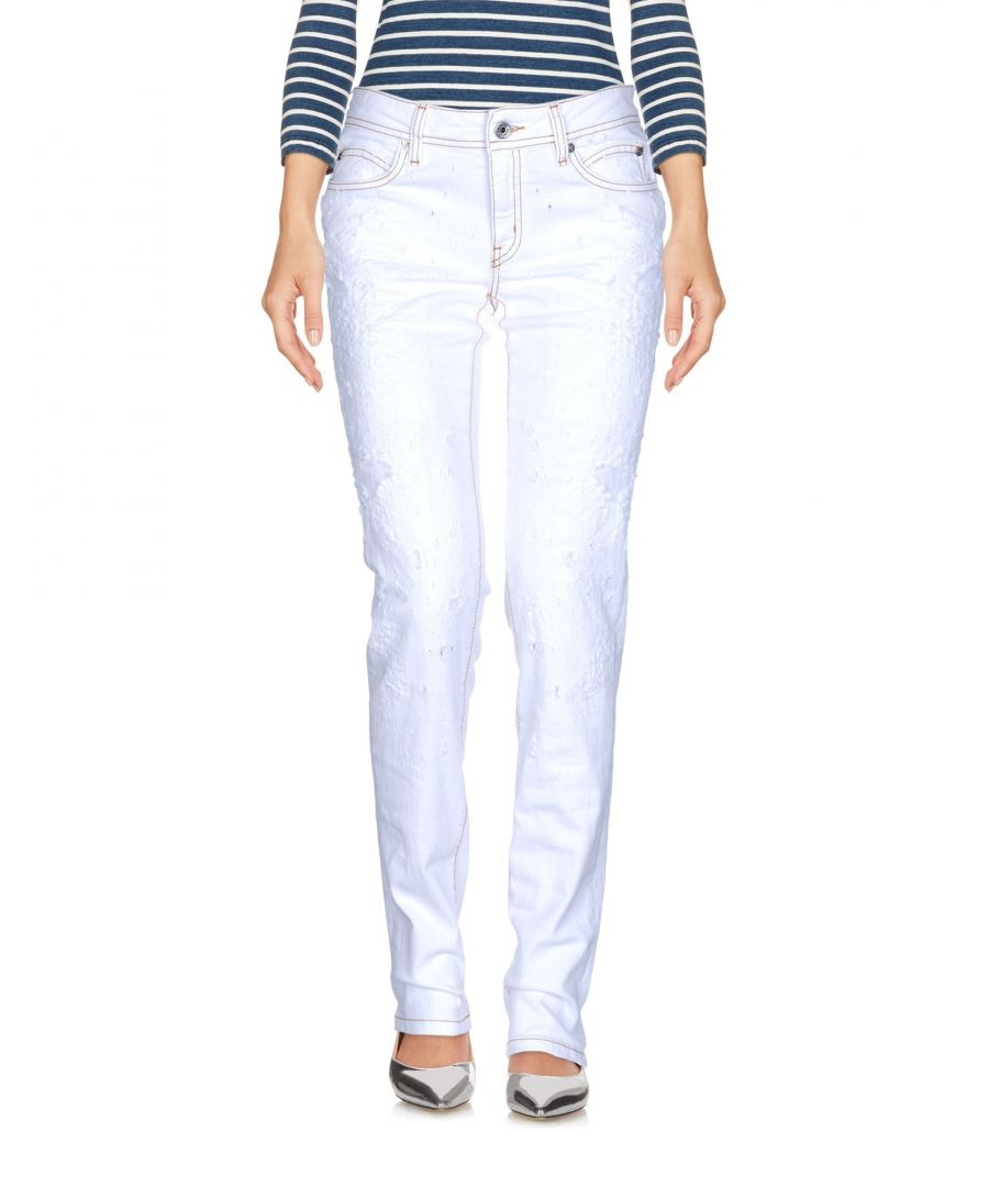 Image for Just Cavalli White Cotton Slim Fit Jeans