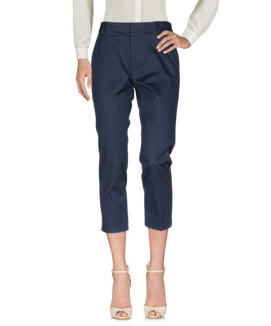 Image for Dsquared2 Dark Blue Cotton Cropped Trousers