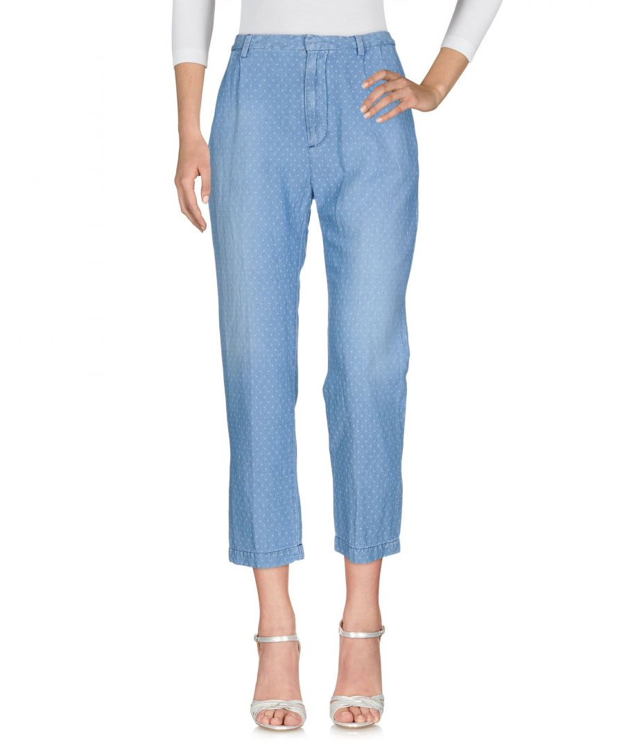 Image for Cycle Blue Linen High Waisted Polka Dot Jeans