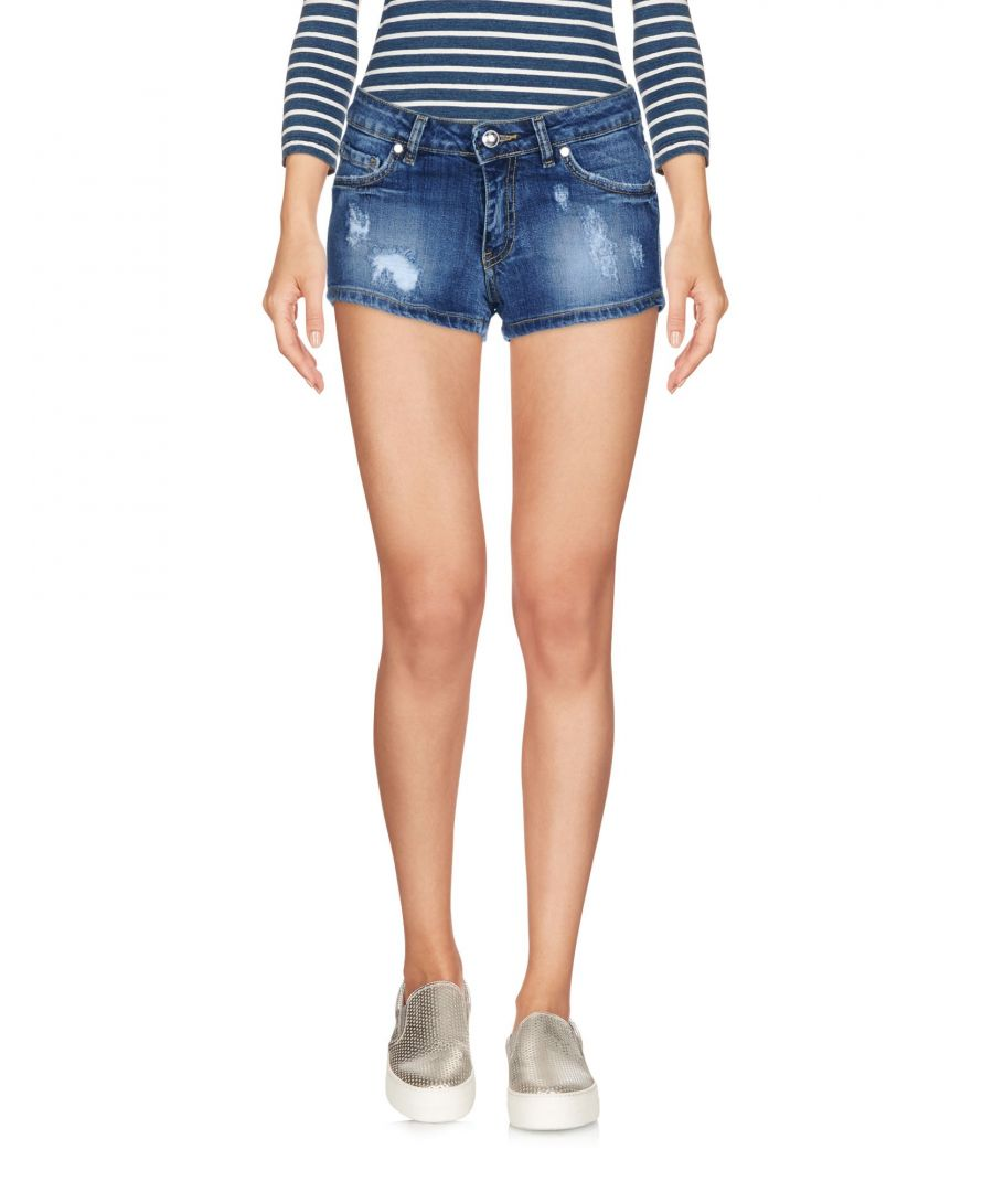 Image for Frankie Morello Blue Denim Shorts