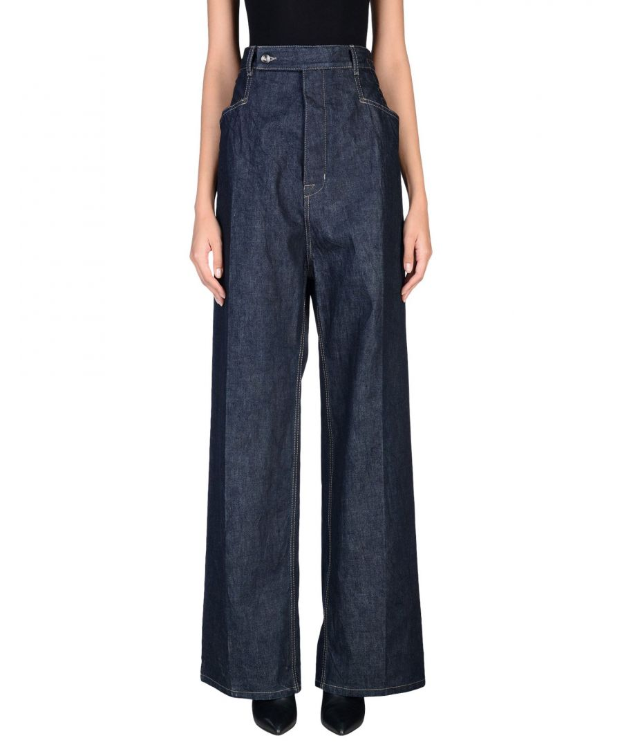Image for Drkshdw By Rick Owens Blue Cotton Jeans