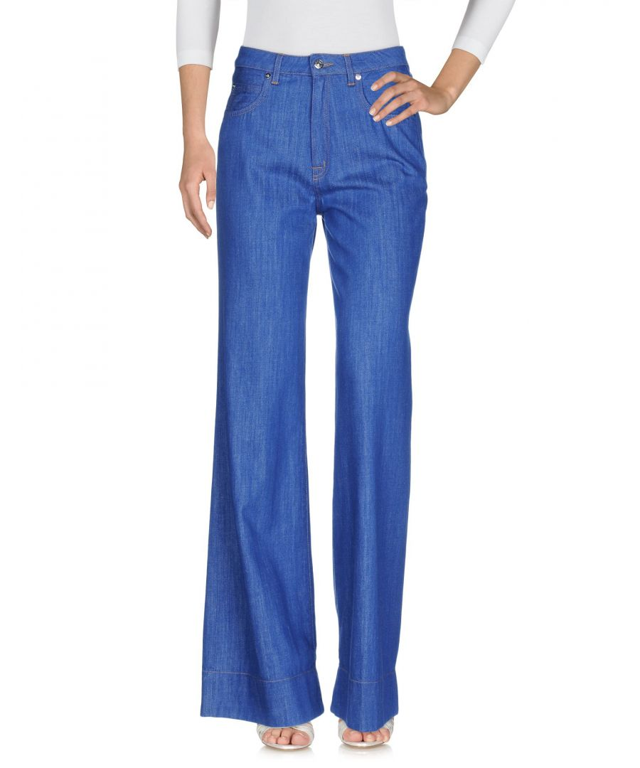 Image for (+) People Blue Cotton Flared Jeans