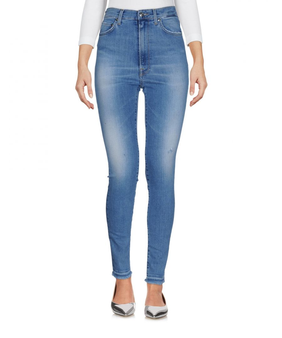 Image for (+) People Blue Cotton Skinny Slim Fit Jeans