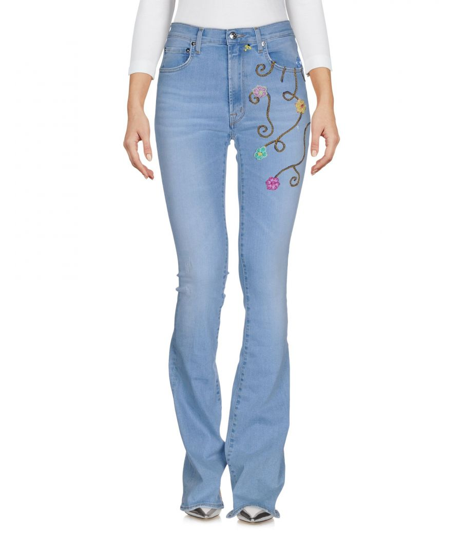 Image for (+) People Blue Cotton Flare Jeans