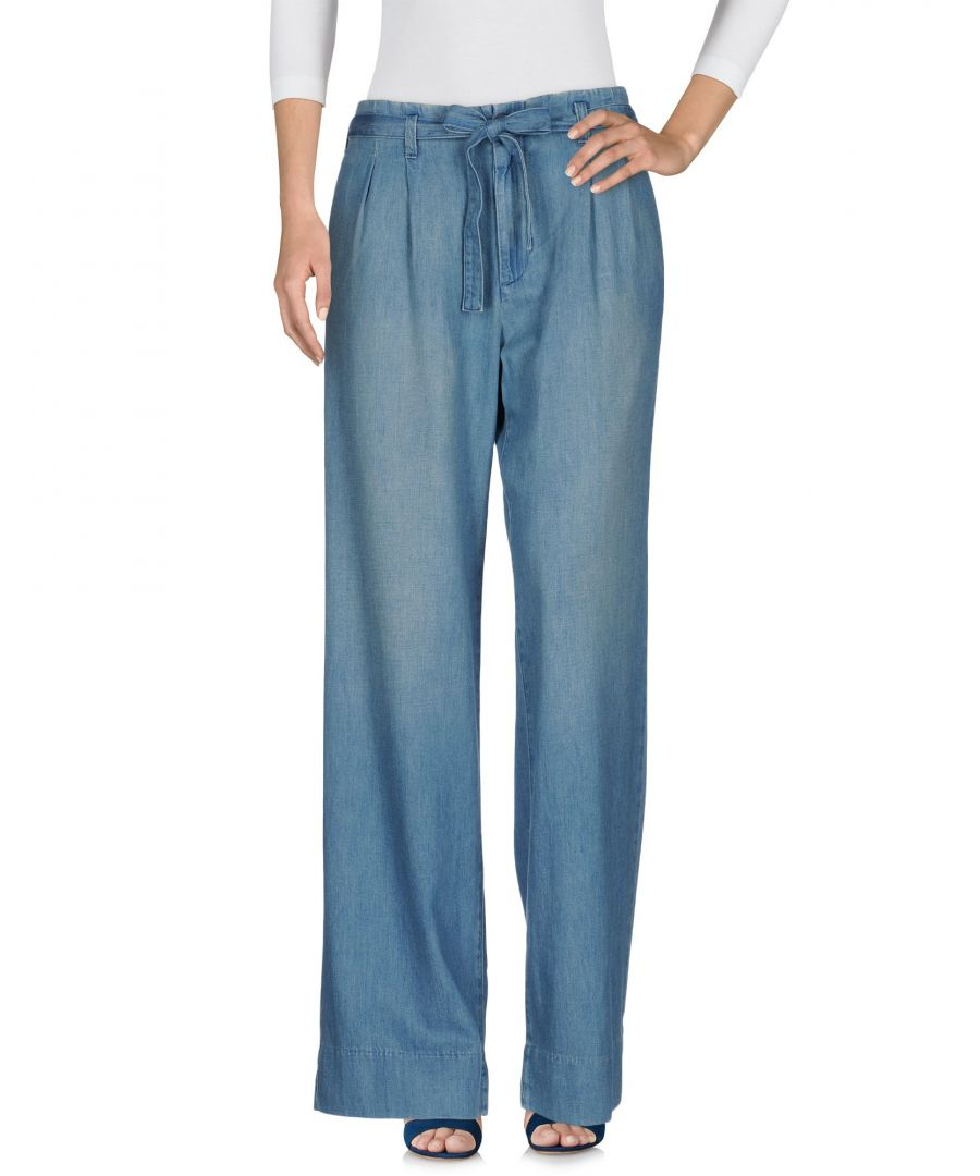 Image for Current/Elliott Blue Cotton Wide Leg Jeans