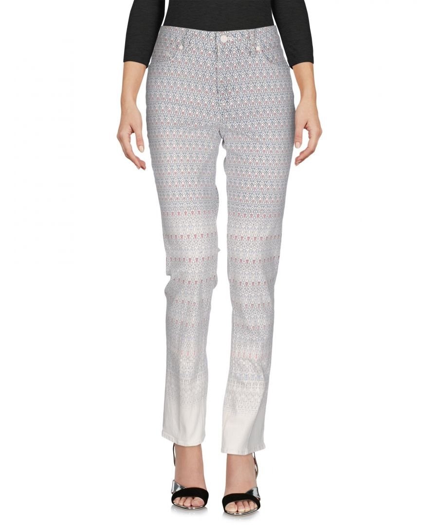Image for Tory Burch White Cotton Straight Leg Jeans
