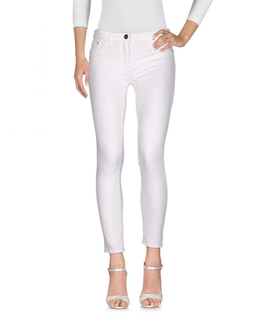 Image for DENIM Elisabetta Franchi Jeans White Woman Cotton