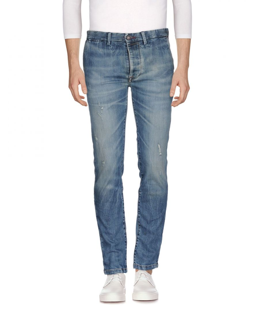 Image for Pepe Jeans Blue Cotton Straight Leg Jeans
