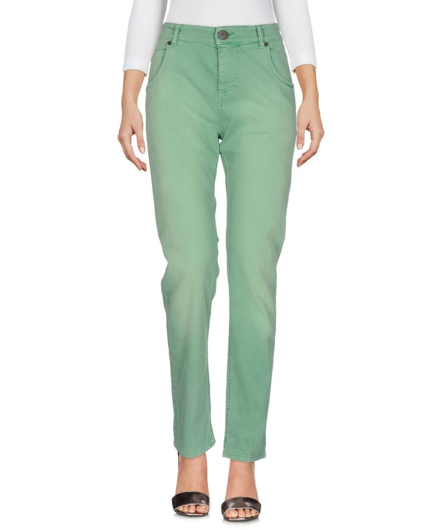 Image for Twin-Set Jeans Green Cotton Straight Leg Jeans