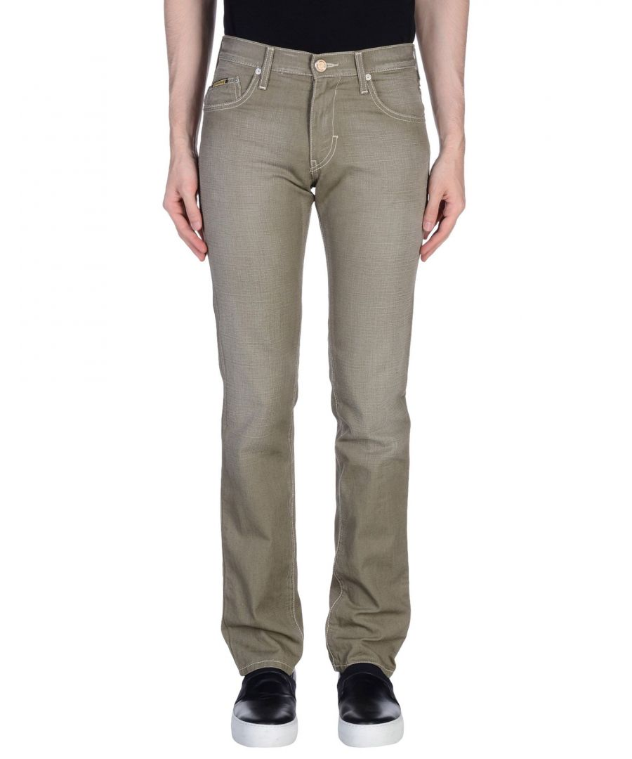 Image for Armani Jeans Military Green Cotton Jeans