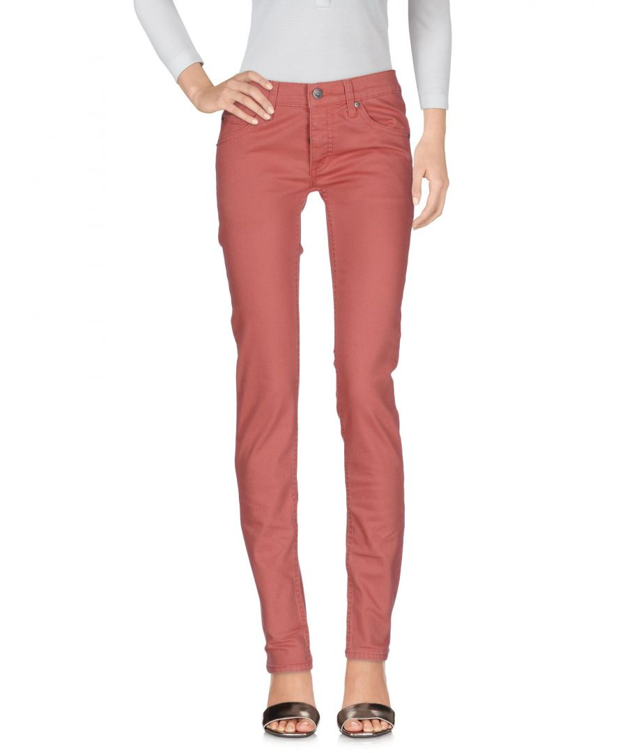 Image for Cheap Monday Brick Red Cotton Jeans