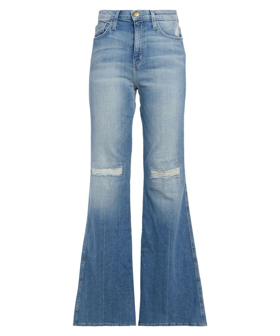 Image for Current/Elliott Blue Cotton Light Wash Flare Jeans