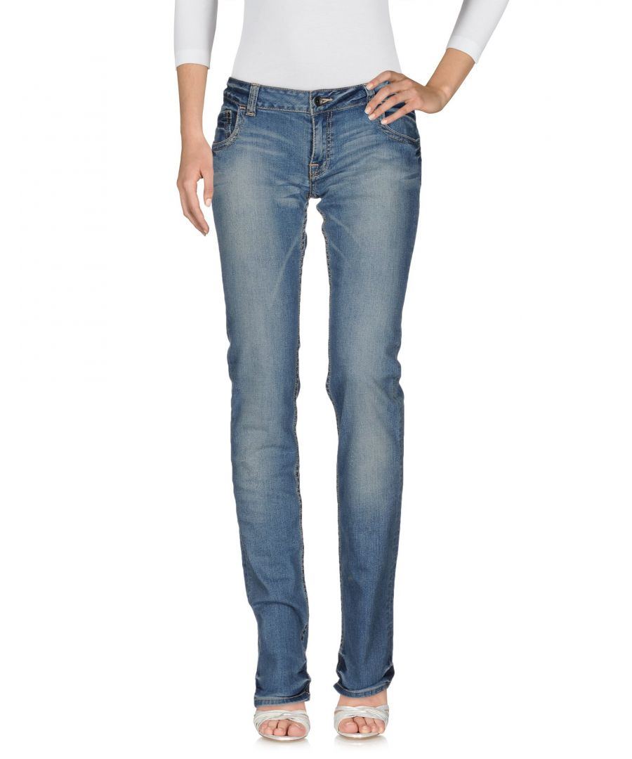 Image for Moschino Blue Cotton Mid Rise Jeans