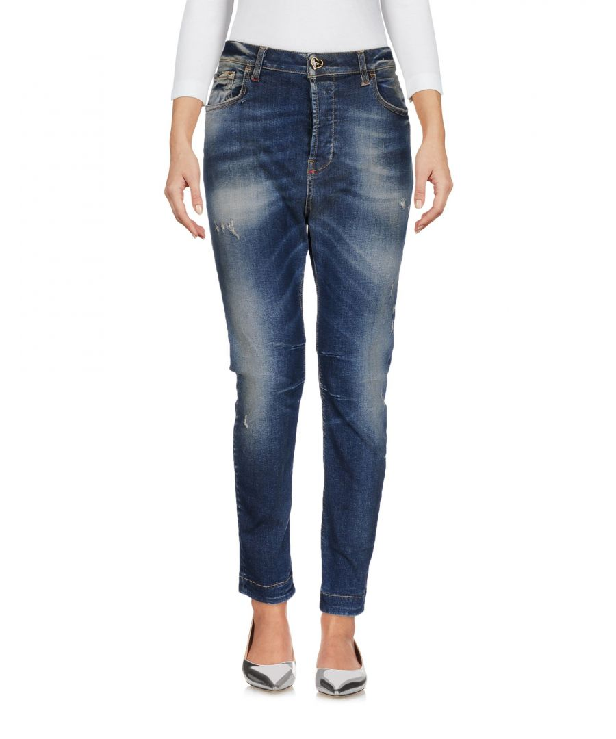Image for Twin-Set Jeans Blue Cotton Straight Leg Jeans