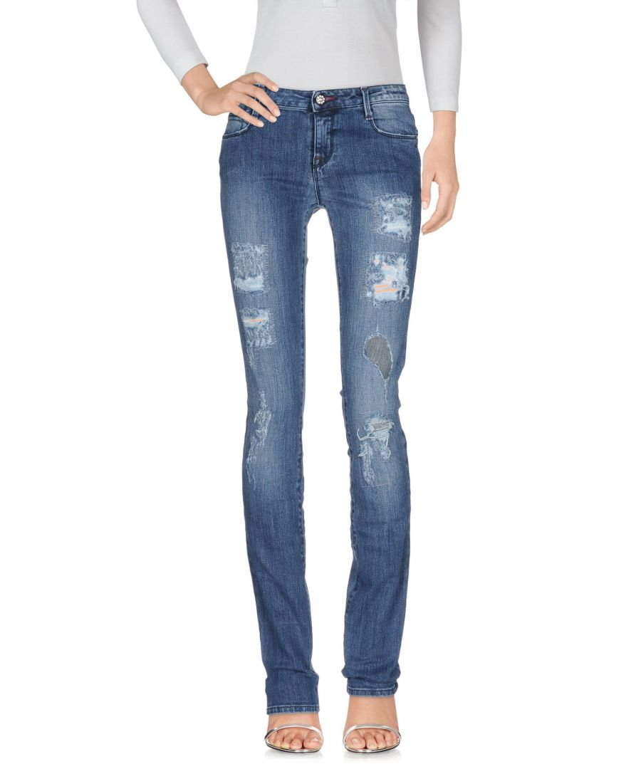 Image for Met Jeans Blue Cotton Worn Effect Jeans