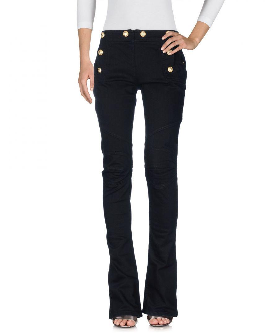 Image for Balmain Black Cotton Bootcut Jeans
