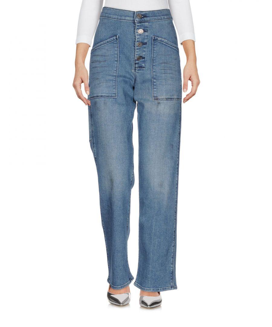 Image for Rta Blue Cotton Light Wash Wide Leg Jeans