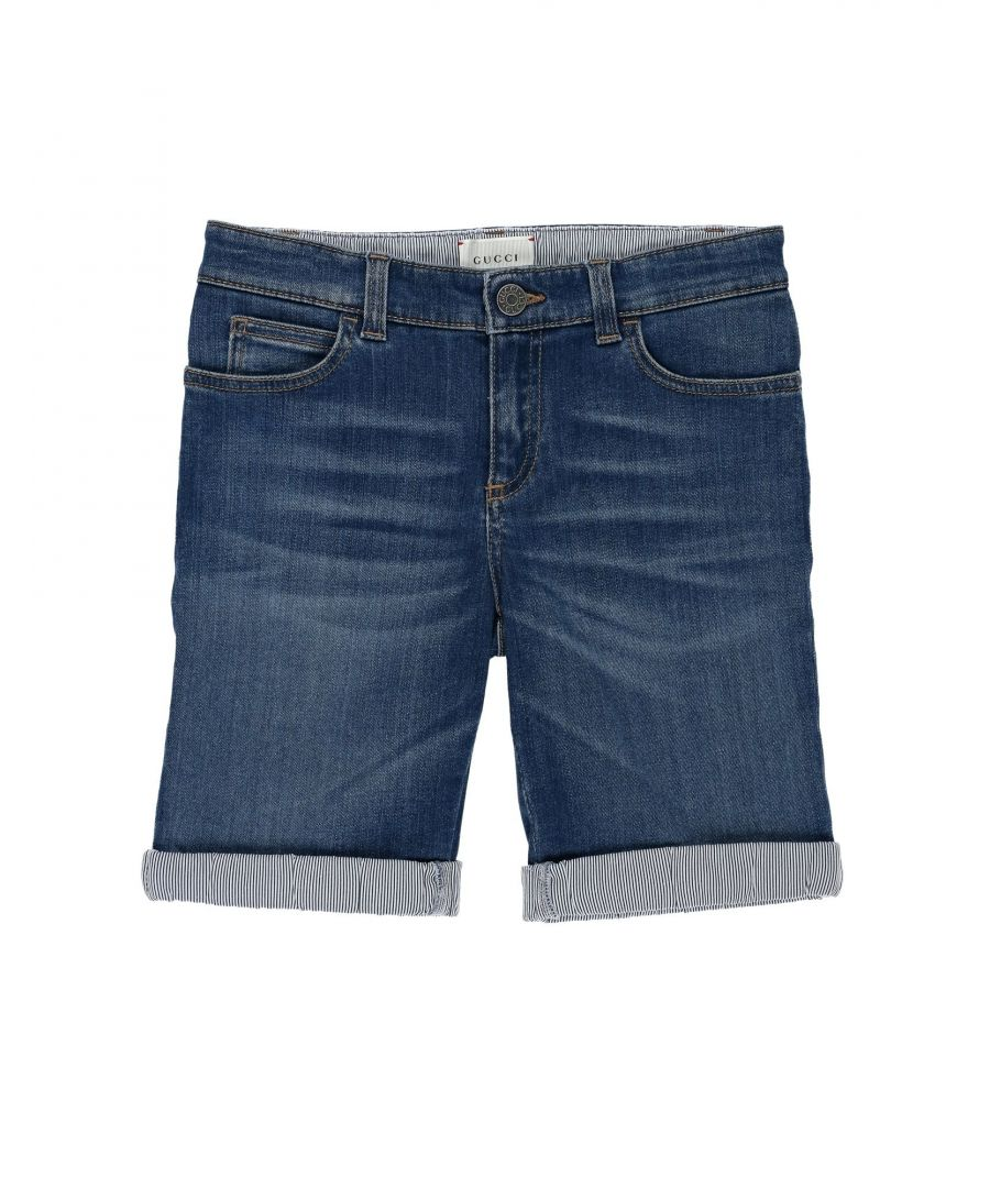 Image for Gucci Blue Denim Shorts