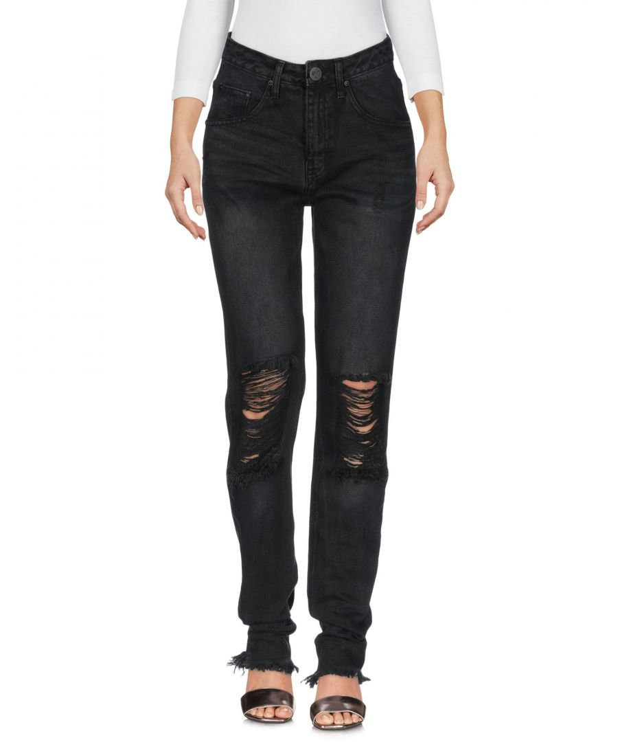 Image for One X Oneteaspoon Black Cotton Straight Leg Jeans